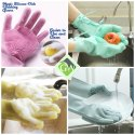 Magic Silicone Scrubbing Gloves Wet and Dry Glove Set