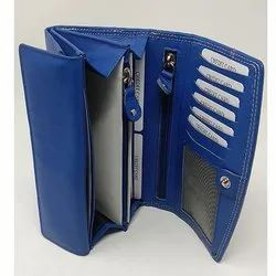 Blue Fancy Leather Ladies Wallet