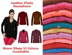 Woolen V Neck Ladies Sweaters, Cardigan For Her With More Than 10 Colors, Size: Xl