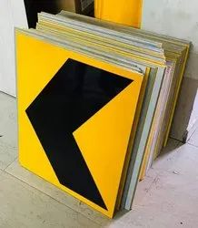 ACP AND ALLUMINIUM TYPE 4 Cautionary Directional Signboard, For Highway