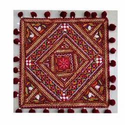 Fabric Brown Decorative Handricraft Wall Torans
