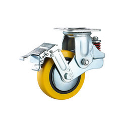 Spring Loaded Swivel Caster Wheels with Brake