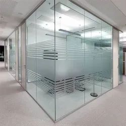 Hinged Frameless Toughened Glass Door, for Office, Thickness: 5 Mm