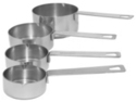 Stainless Steel Measuring Cup - set of 4