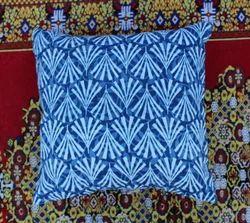 Indigo Blue Hand Block Printed Cotton Cushion Cover