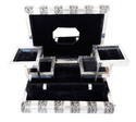 Silver Metal Finish Wooden Handmade Jewelry Box - Black