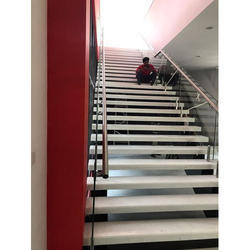 Spiral Toughened Stainless Steel Staircase