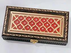 Meenakshi Handicraft Emporium Wooden Handicrafted Handmade Gaddi Box &Cash Box