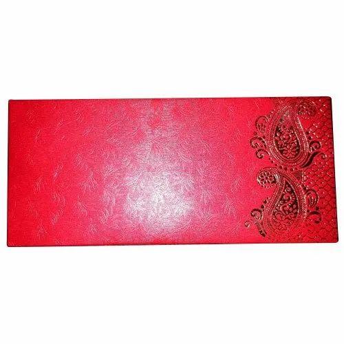 Ns Metallic Paper Rectangular 200 Gsm Designer Wedding Card