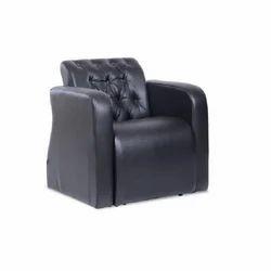 Black Designer Single Seater Sofa