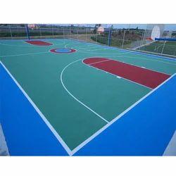 Badminton Court Flooring Volleyball Court Development Service, For Basketball Court