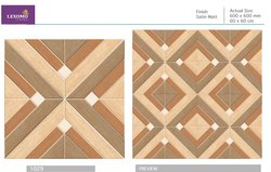Lexomo Ceramic Designer Floor Tiles, 2 X 2 Feet, Thickness: 8 - 10 mm