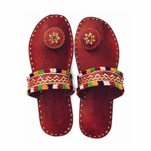 Dark Brown Embroidered Ladies Casual
