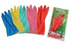 Volk House Hold Rubber Hand Gloves