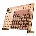 Galliard Games Wooden Calendar - Rectangular Shape For Table, Desktop And Walls