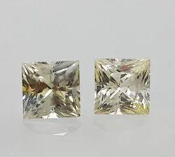 Yellow Sapphire 0.99Ct 4.12X4.08X3.14MM Natural Pair Gemstone Ceylon