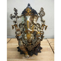 Antique Lord Ganesha Brass Statue