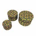 Century Overseas Muticolor Floral Round Gift Box