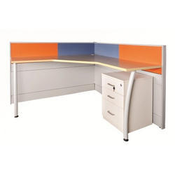 3 Drawer L Shape Workstation Table