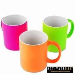 Soft Touch Neon Sublimation Mug, Capacity: 330 mL