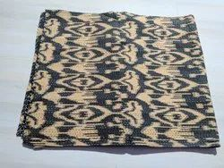 Light Brown and Black  Printed Kantha Quilt