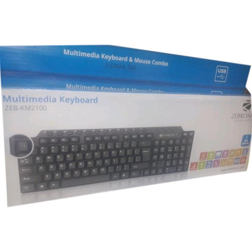 5caa6c3c730 Zebronics ZEB-KM2100 USB Multimedia Keyboard, Zebronics का ...