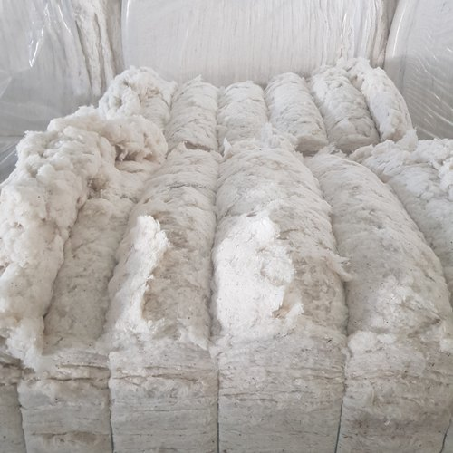 White Cotton Fiber Waste for Textile Industry, Packaging Size: 170 Kg