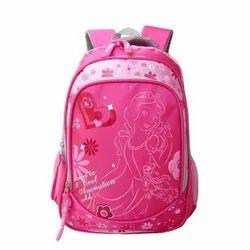 Pink Girls School Bag, Size/Dimension: Medium