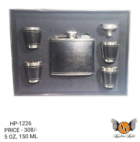 XPEDITION XPERTS Black HIP FLASK SET