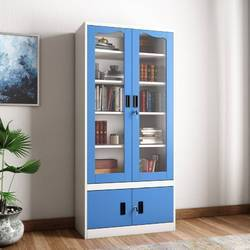 Steel Glass Door Book Case