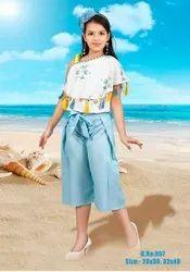 Girl Bsy Print Kids Plazo Dress, 20-30,32-40