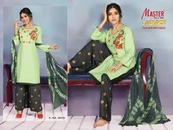 Jackpot By Master Rayon 3 Piece Top Plazzo With Dupatta Collection