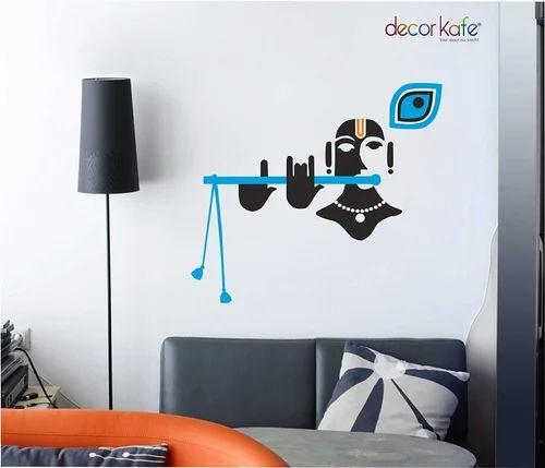 multicolor multiple decor kafe beautiful blue black krishna wall