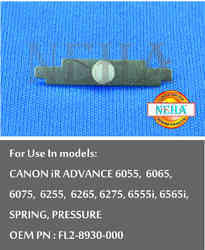 Spring, Pressure OEM PN: FL2-8930-000, For Use In Models CANON IR ADVANCE 6055, 6065, 6075, 6255
