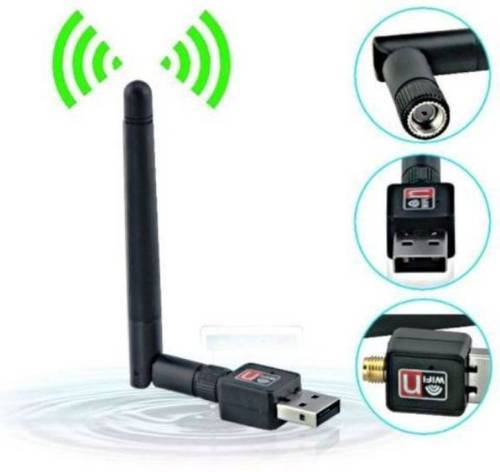 Mini Wifi Usb Adapter With Antenna External Ethernet Dongle