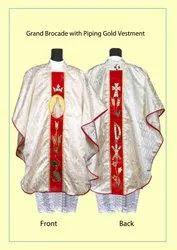 Grand Brocade Gold Priest Vestment