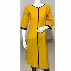 Yellow Formal Wear Kurti