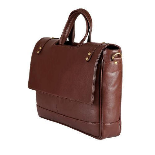 Leather Brown Mens Office Bag