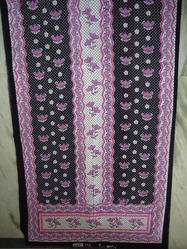 Printed Pink Cotton Kaftan Fabric, Use: Dress