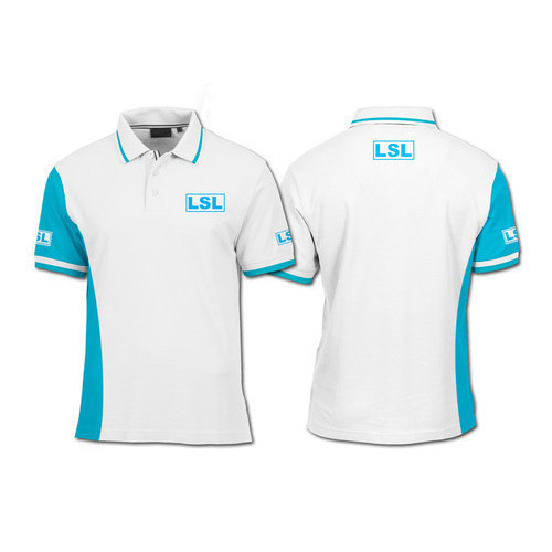 Cotton Printed Mens Corporate Polo Collar T-Shirt