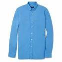 Mens Cotton Full Sleeve Plain Shirt, Size: S - Xl