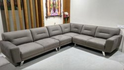 Leaterh L Corner Sofa set