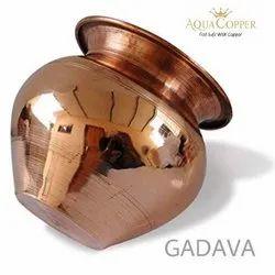 Round Aqua Copper Copper Plain Lota