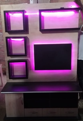 Particle Board LED Showcase