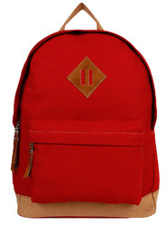 Basic Red Canvas Backpack