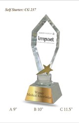 Centrum Laser White Crystal Awards, Shape: Cup