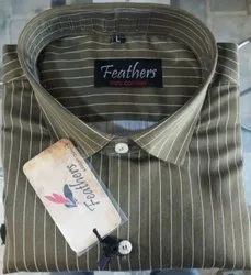 Feathers Cotton Mens Shirt