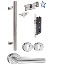 D93203 Poppy L/r Entrance Door Handle Set