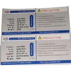Offset Printing Rectangular Chromo Paper Printed Adhesive Sticker