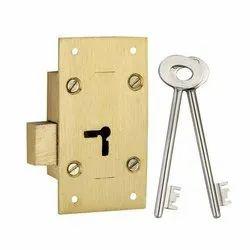 Deadbolt Lock 3 Inch Brass Cupboard Locks, For Cabinet